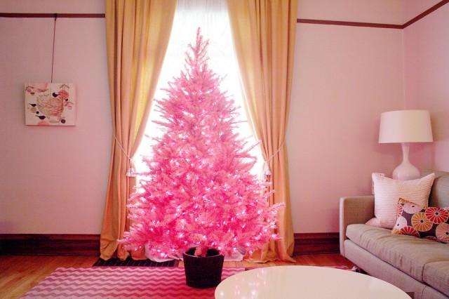 pink-christmas-trees