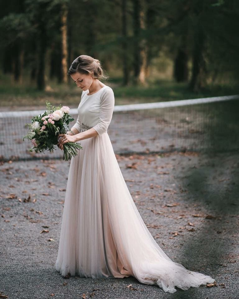 Falda rosa cuarzo novia-Love Lovely