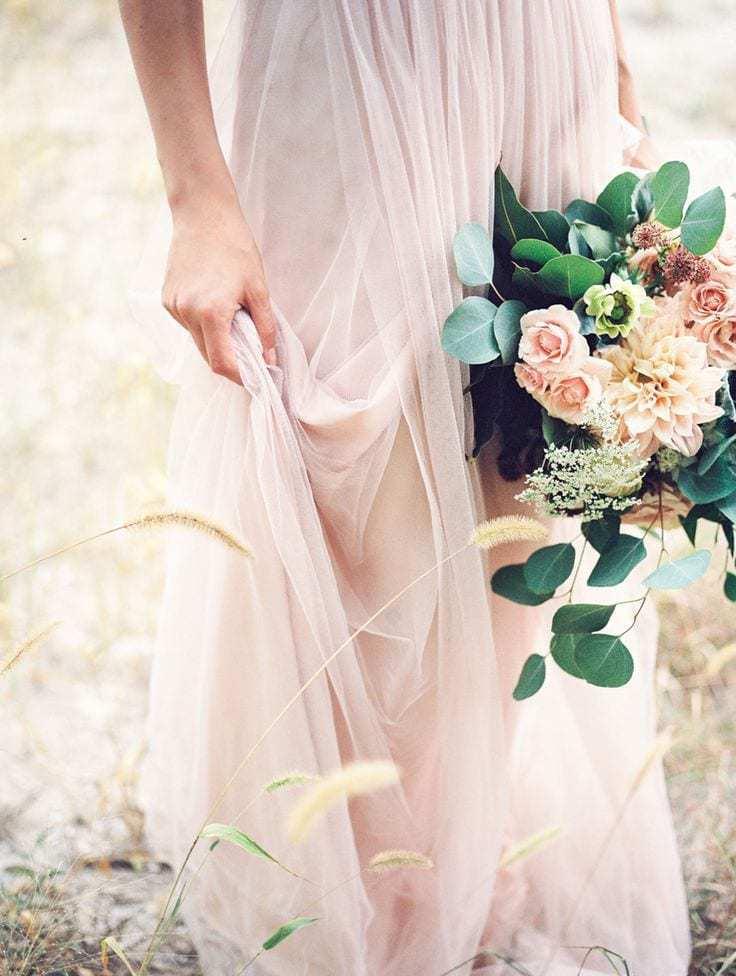 Rosa cuarzo vestido de novia-Love Lovely