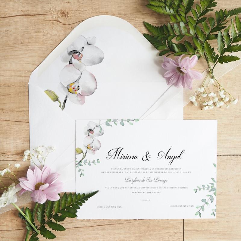 Invitaciones de boda en acuarela