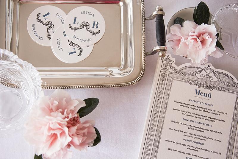 papelería de bodas con motivos originales