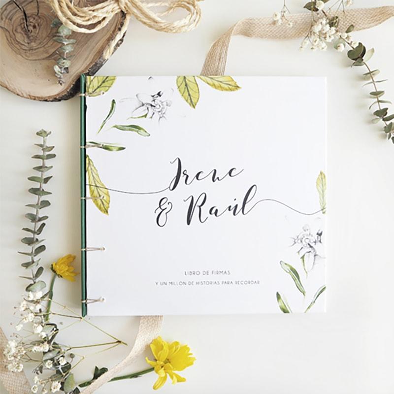 libro de firmas para papelería de bodas