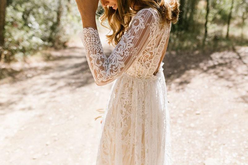 vestido vintage para novia de encaje