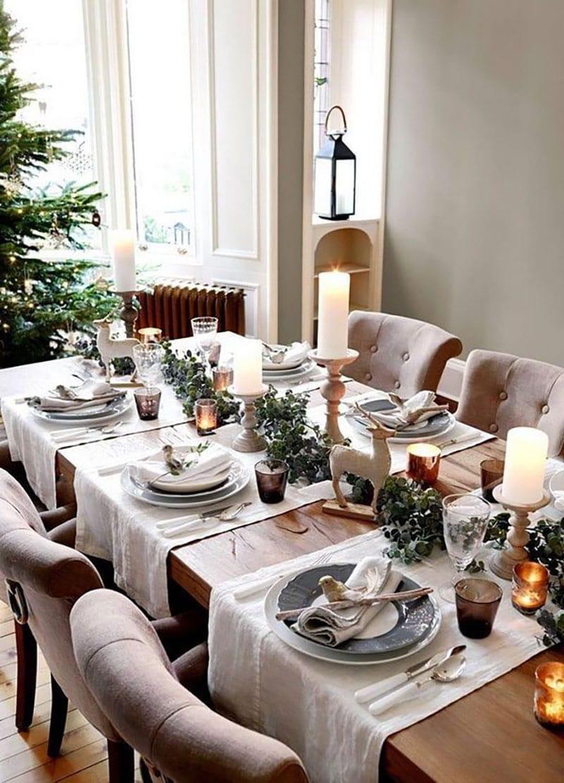 Decora la mesa esta navida. Velas a mesad