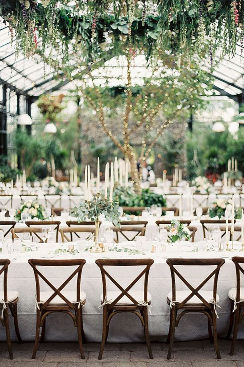 Tendencias deco bodas. Greenery